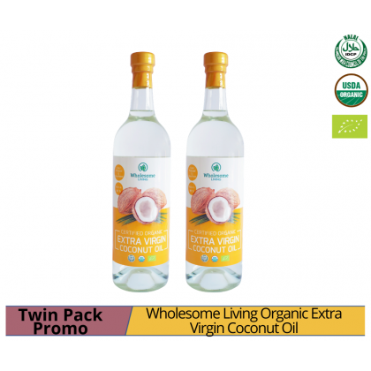 Wholesome Living Organic Extra Virgin Coconut Oil 750ml x 2