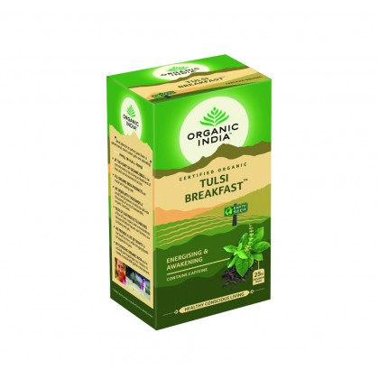 Organic India Certified Organic Tulsi Breakfast 1.7g x 25 Packs