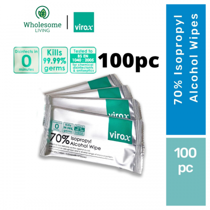 Virox 70% Alcohol Wipes 100pcs (Medical Grade)