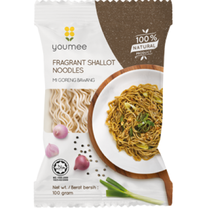 Youmee Fragrant Shallot Noodles 8pkt x 100g - All Natural Instant Noodles HALAL