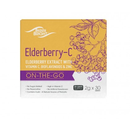 [Twin Pack]Elderberry-C with Vitamin C & Zinc 2g X 30 Sachets x 2 BOXES [ON-THE-GO IMMUNE SUPPORT]