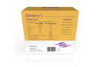 Vitamin C with Elderberry Extract 2g X 30 Sachets x 2 Boxes [On the go Immune Support]
