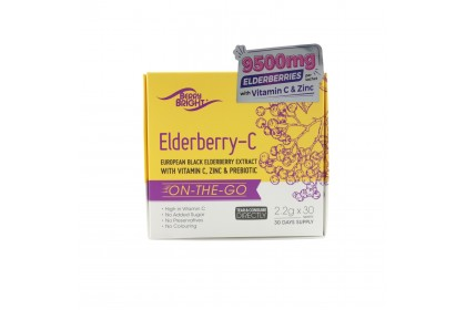 [TWIN PACK] Vitamin C with European Black Elderberry Extract (Berry Bright) 2.2g X 30 Sachets x 2 Boxes [On the go Immune Support]