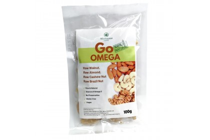 GO Omega (Mix Nuts) 100g x 2 - [Raw & Natural Healthy Snack]