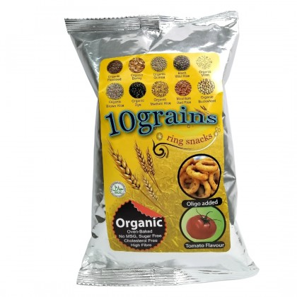 [Organic Multi Grain Combo] (Cheese Ring 50g x 4) + (Tomato Ring 50g x 4) + (Onion Ring 50g x 4) [Tasty & Healthy Snack] [No MSG]
