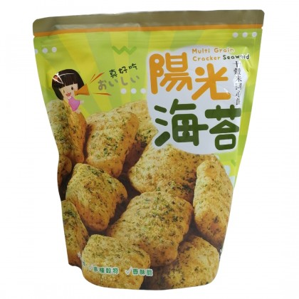Multi-Grain Cracker Combo - (Original 100g x 1) + (Seaweed 100g x 1) + (Cocoa 100g x 1) - Taiwan Traditional Snack [Crispy, Tasty & Healthy]