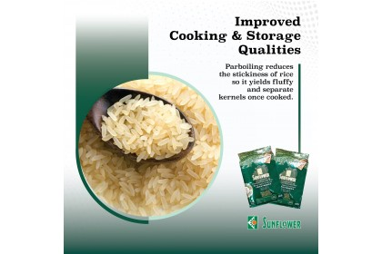 Sunflower Premium Parboiled Rice 5kg [Low GI] [Made in Malaysia]