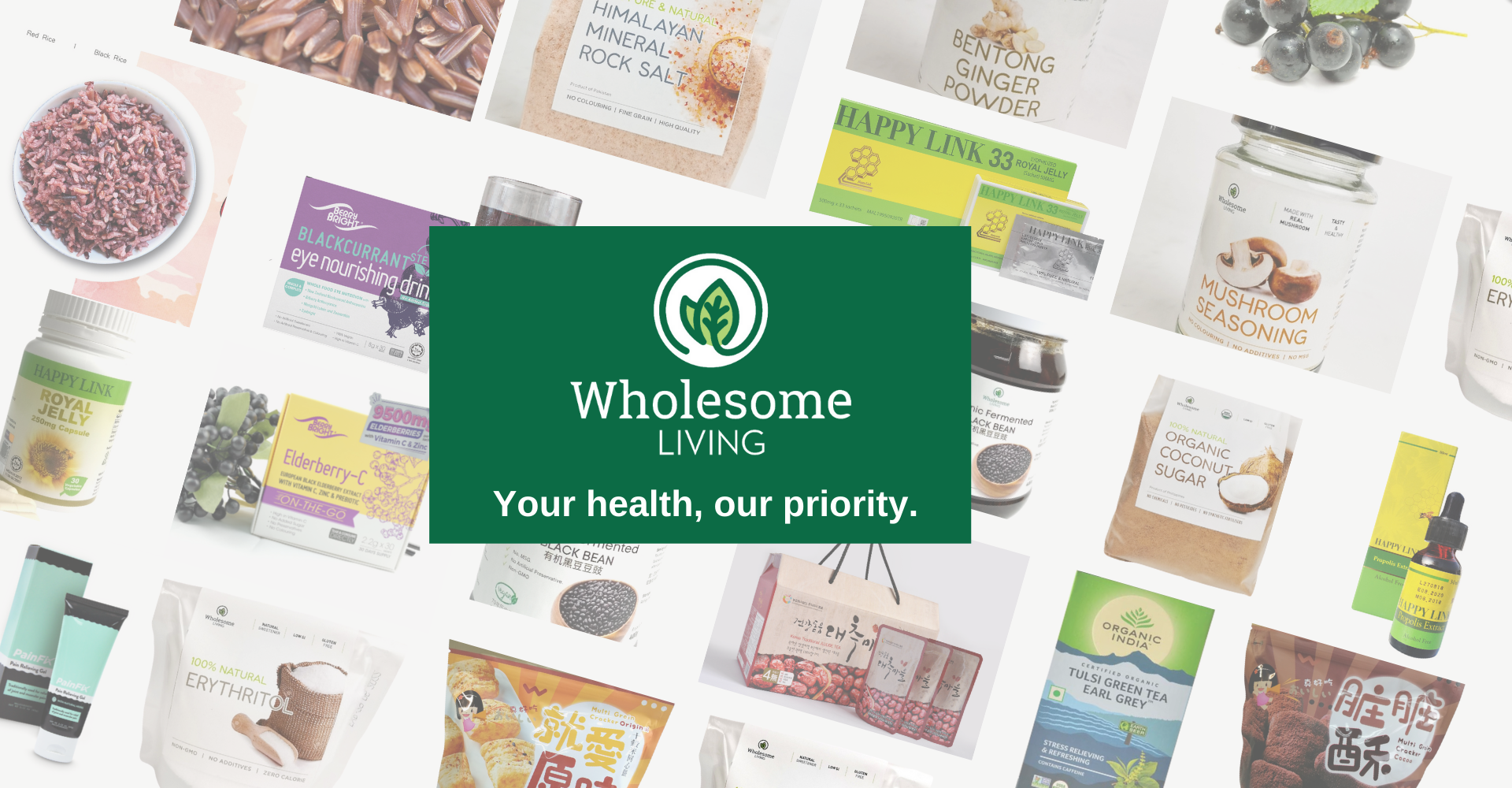 Wholesome Living - From Nature With Care. Your trusted brand for healthy living & health products