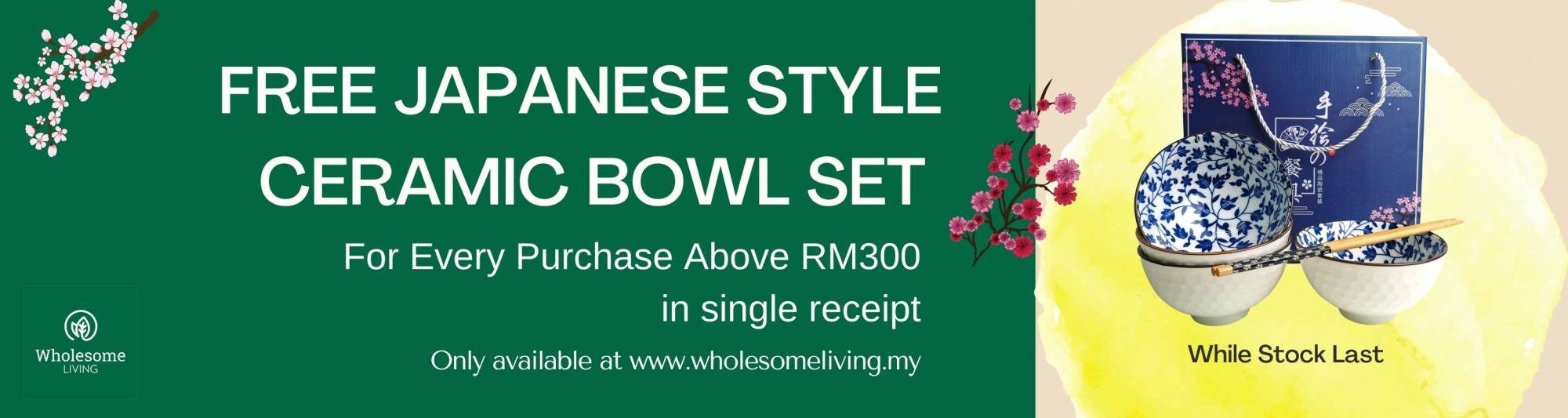 Free Ceramic Bowl Purchase Above RM30