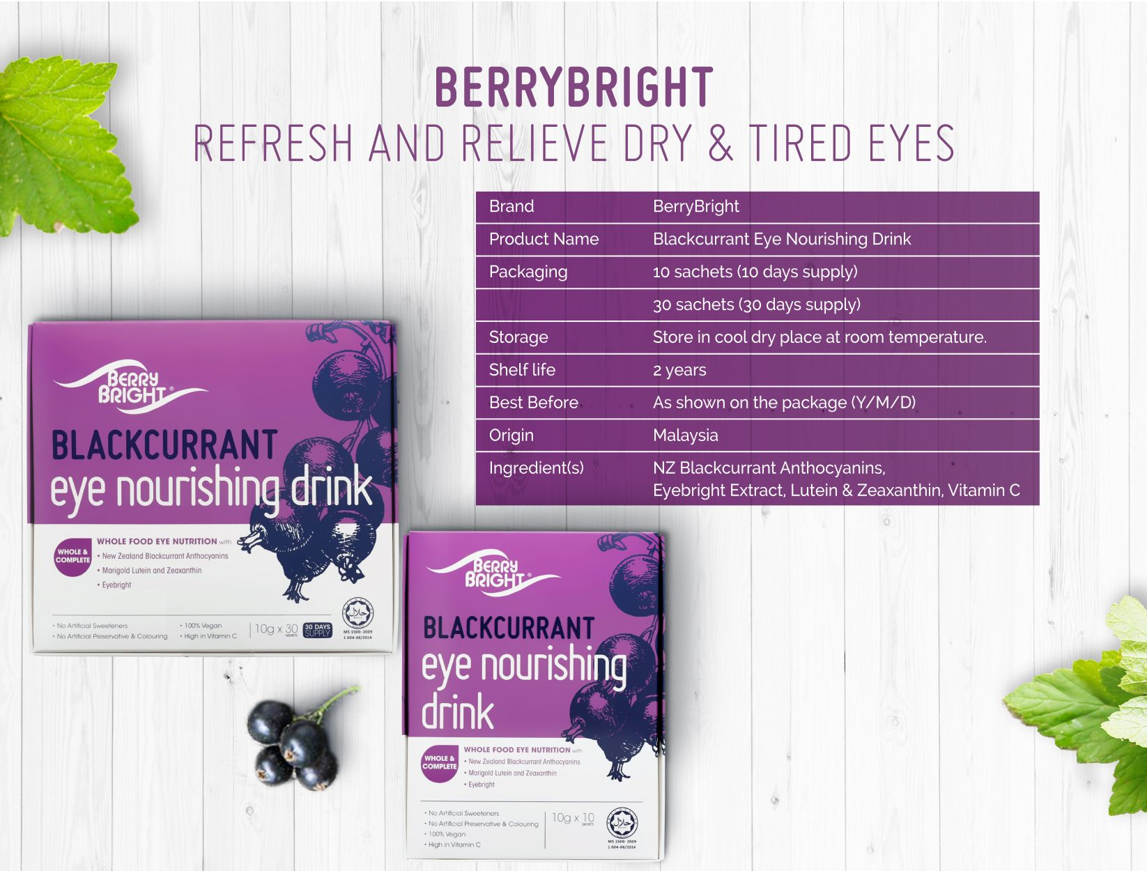 Berry Bright Product Specification