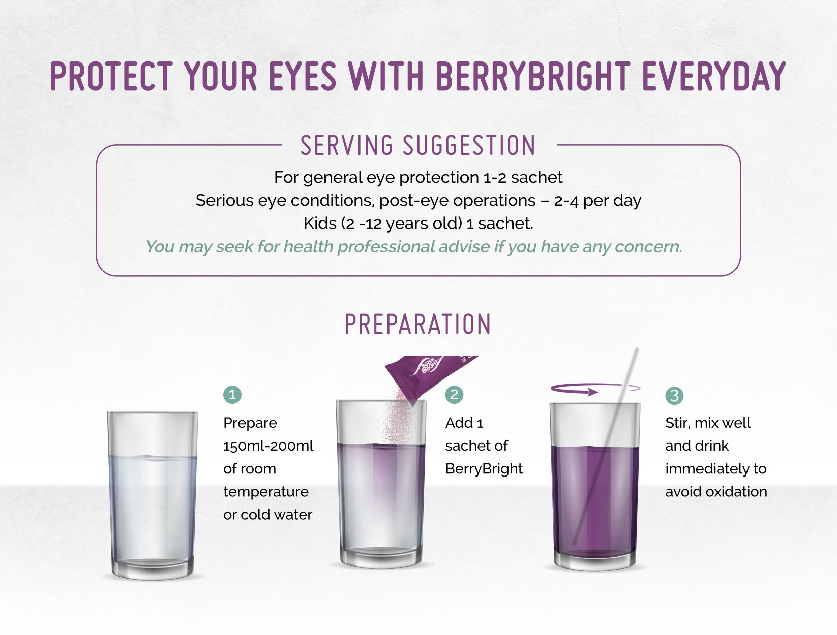 Berry Bright Stevia serving suggestion