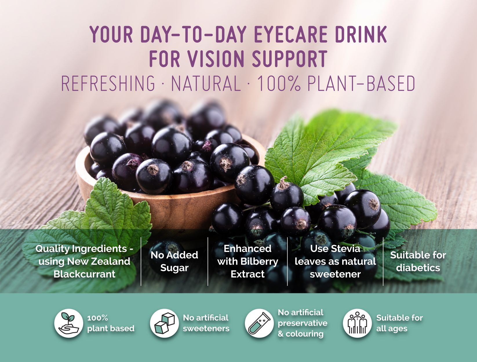 Berry Bright Stevia natural plant based eye care