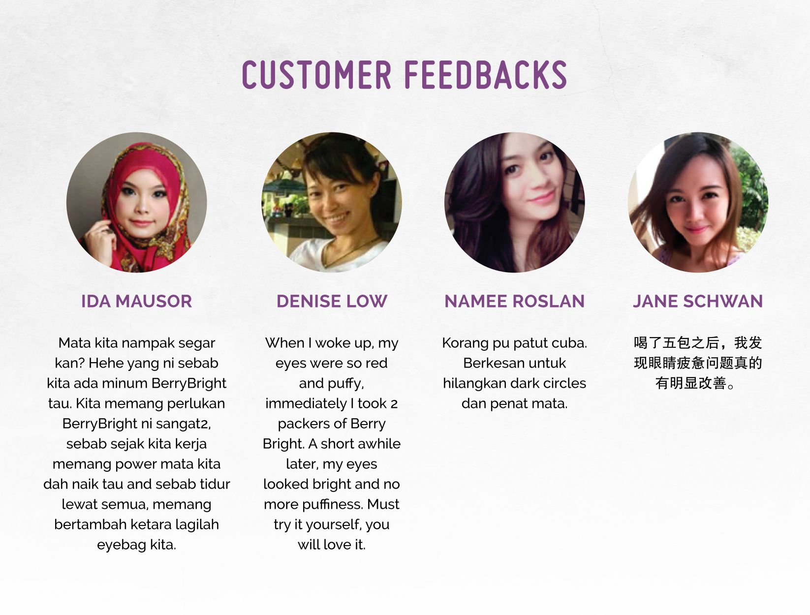 Berry Bright Customer Feedback