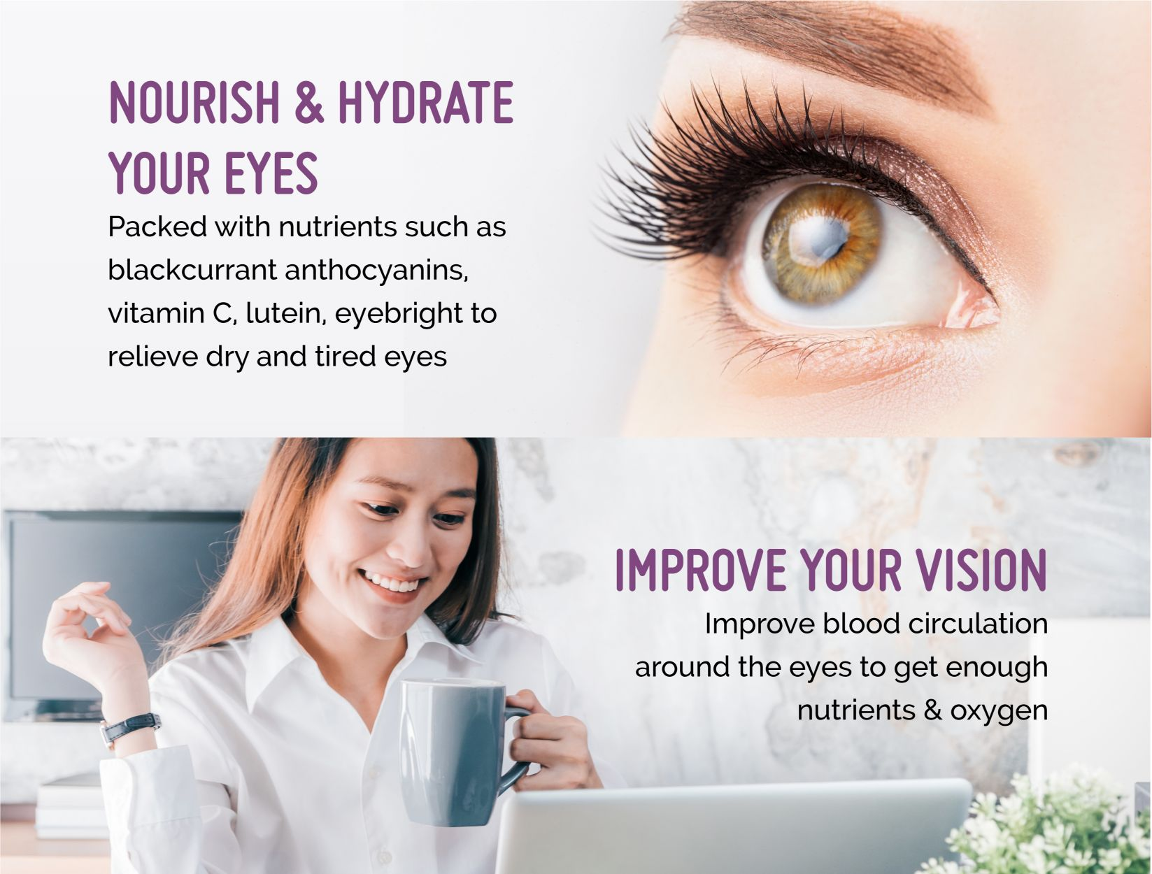 Berry Bright Stevia Nourish Hydrate Improve Vision